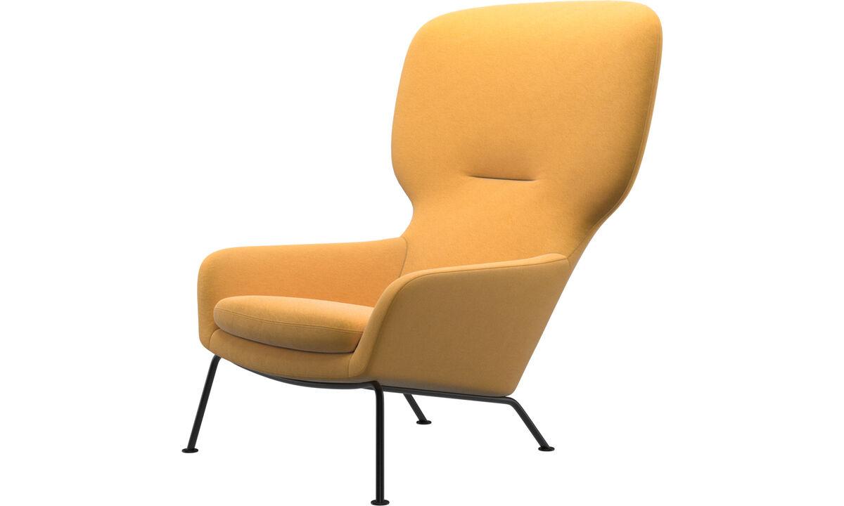 Armchairs - Dublin chair - Yellow - Fabric