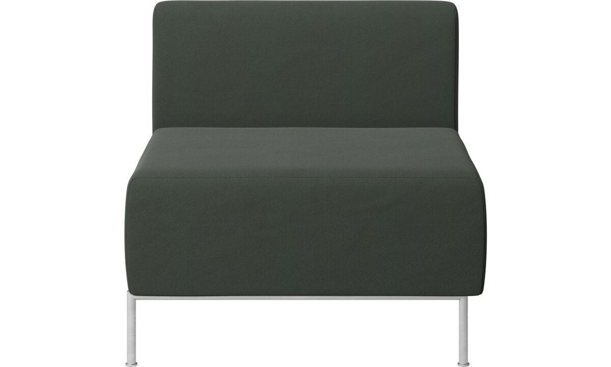 Modular sofas - Miami seat with back - Green - Fabric