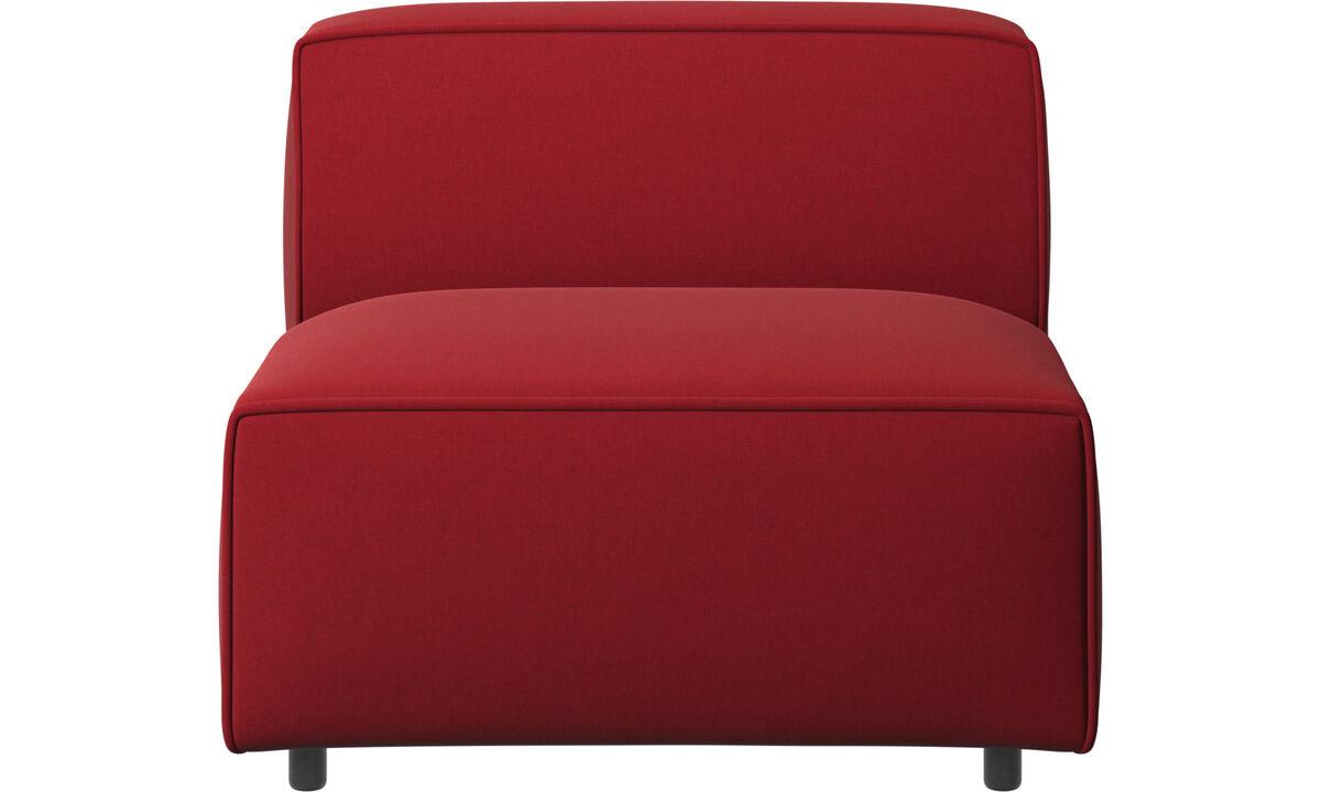 Modular sofas - Carmo chair/basic unit - Red - Fabric