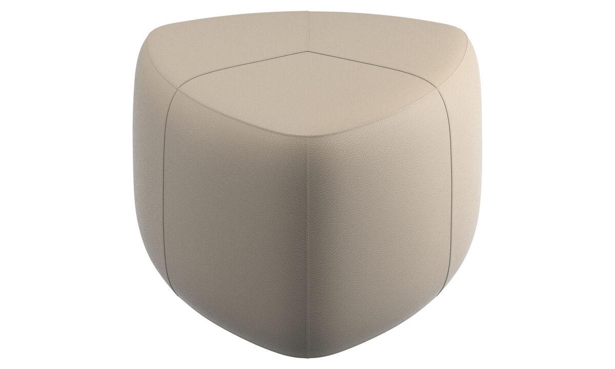 Footstools - Bermuda footstool - Beige - Leather