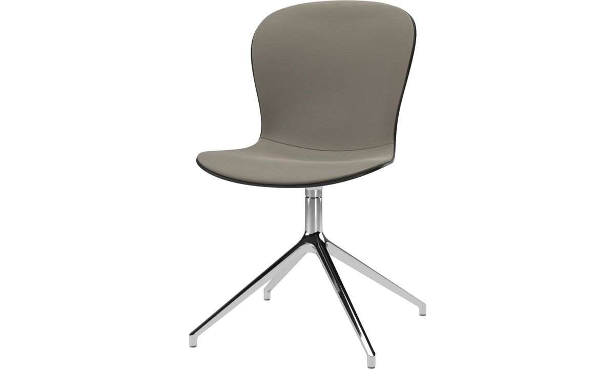 Dining chairs - Adelaide chair with swivel function - Grey - Leather