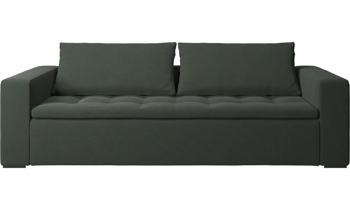Sofás de 3 lugares - Sofá Mezzo - Verde - Tecido