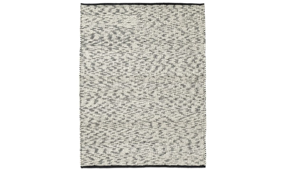 New designs - Mensaxe rug - rectangular - Black - Fabric