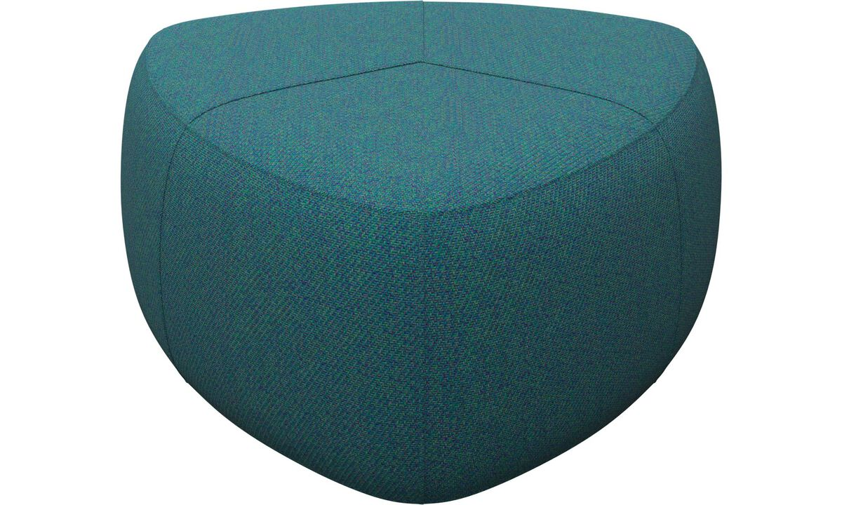 Armchairs and footstools - Bermuda ottoman - Green - Fabric