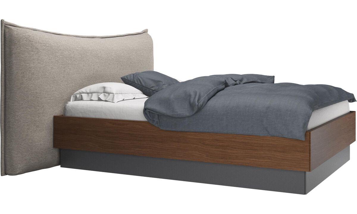 Nuevas camas - cama con canapé, estructura elevable y tablado, no incluye colchón Gent - En beige - Tela