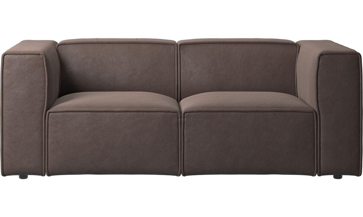 2 seater sofas - Carmo sofa - Brown - Leather