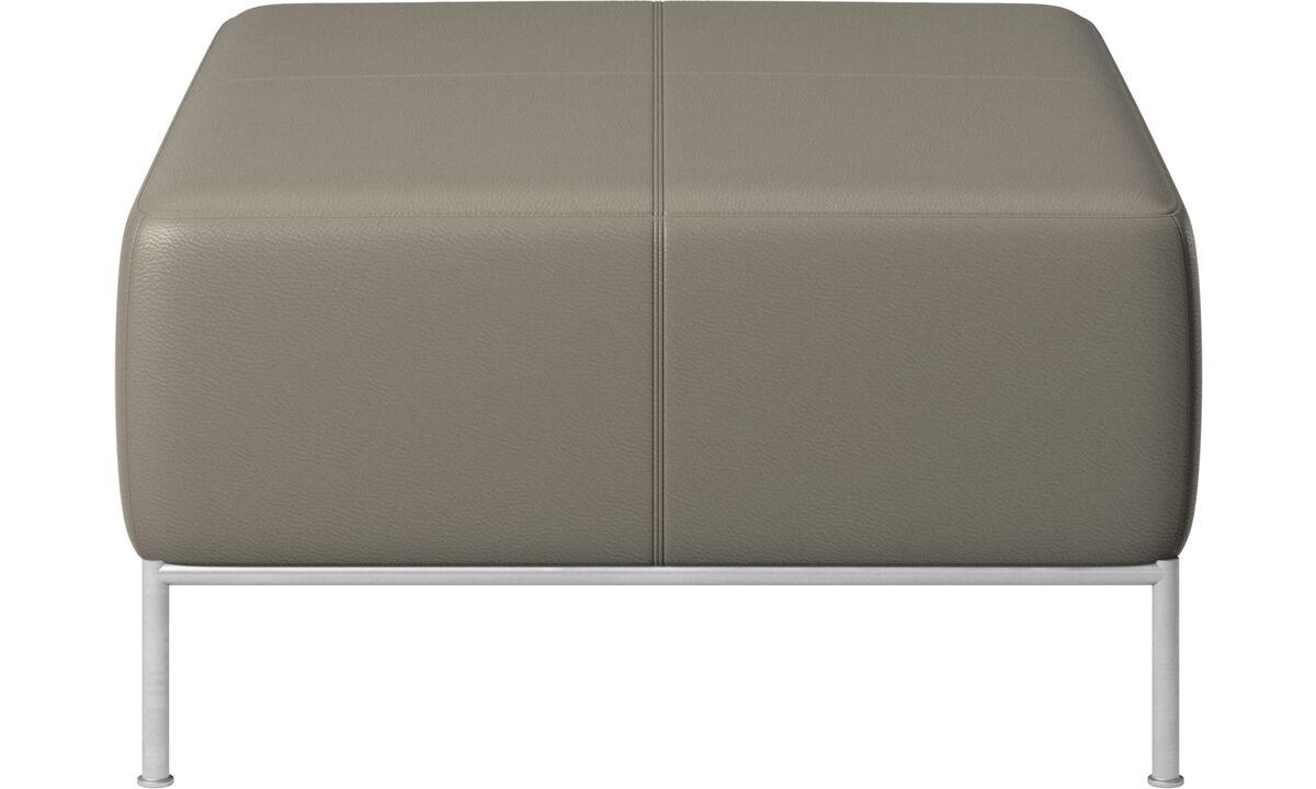 Modular sofas - Miami footstool - Grey - Leather