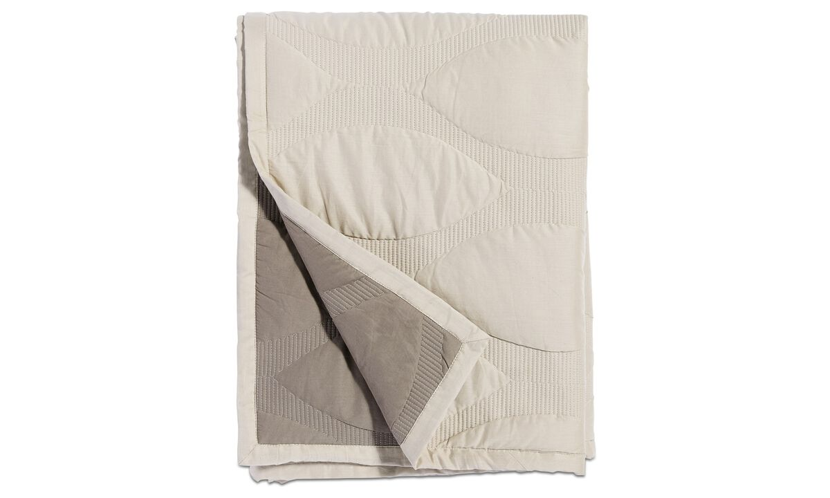 Throws & bedspreads - Fish scale padded bedspread - Beige - Fabric