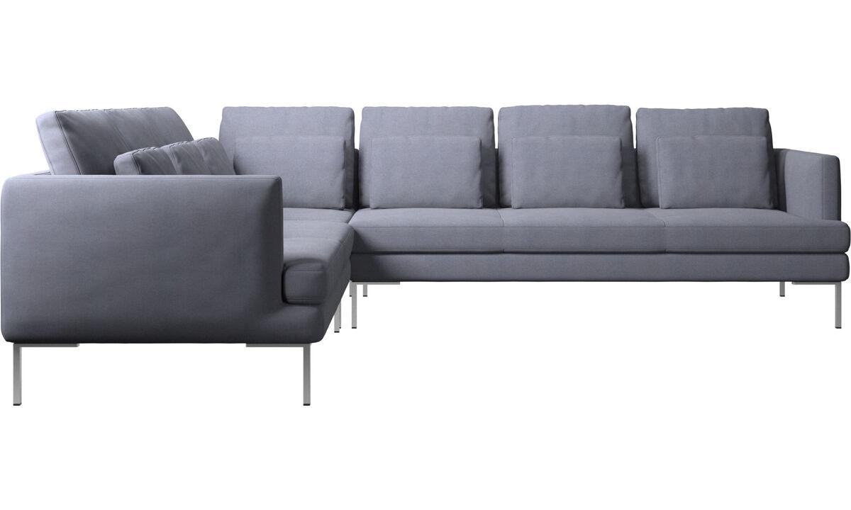 Sofás esquineros - sofá esquinero Istra 2 - En azul - Tela