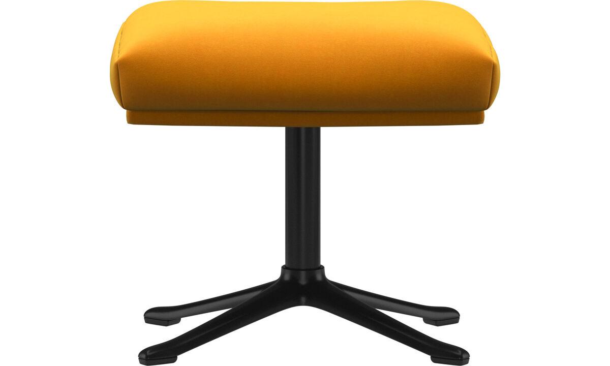 Footstools - Reno footstool - Orange - Fabric