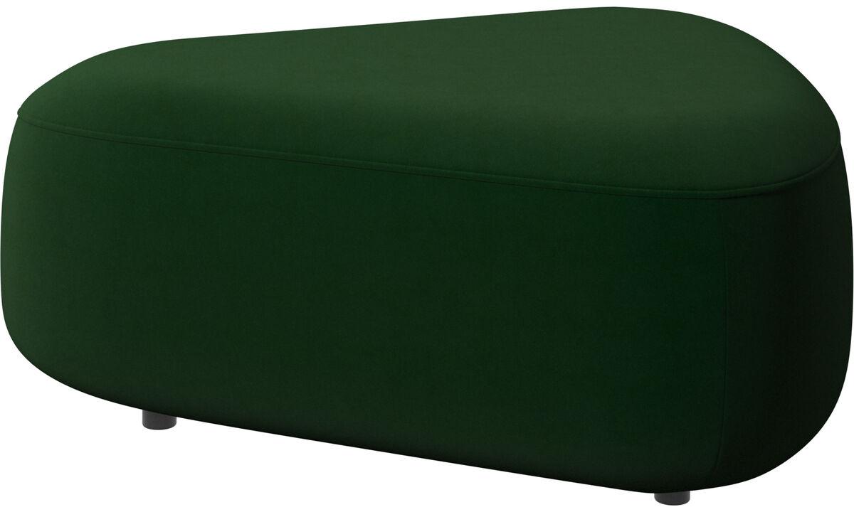 Модульные диваны - Треугольный пуф Ottawa - Зеленый - Tкань