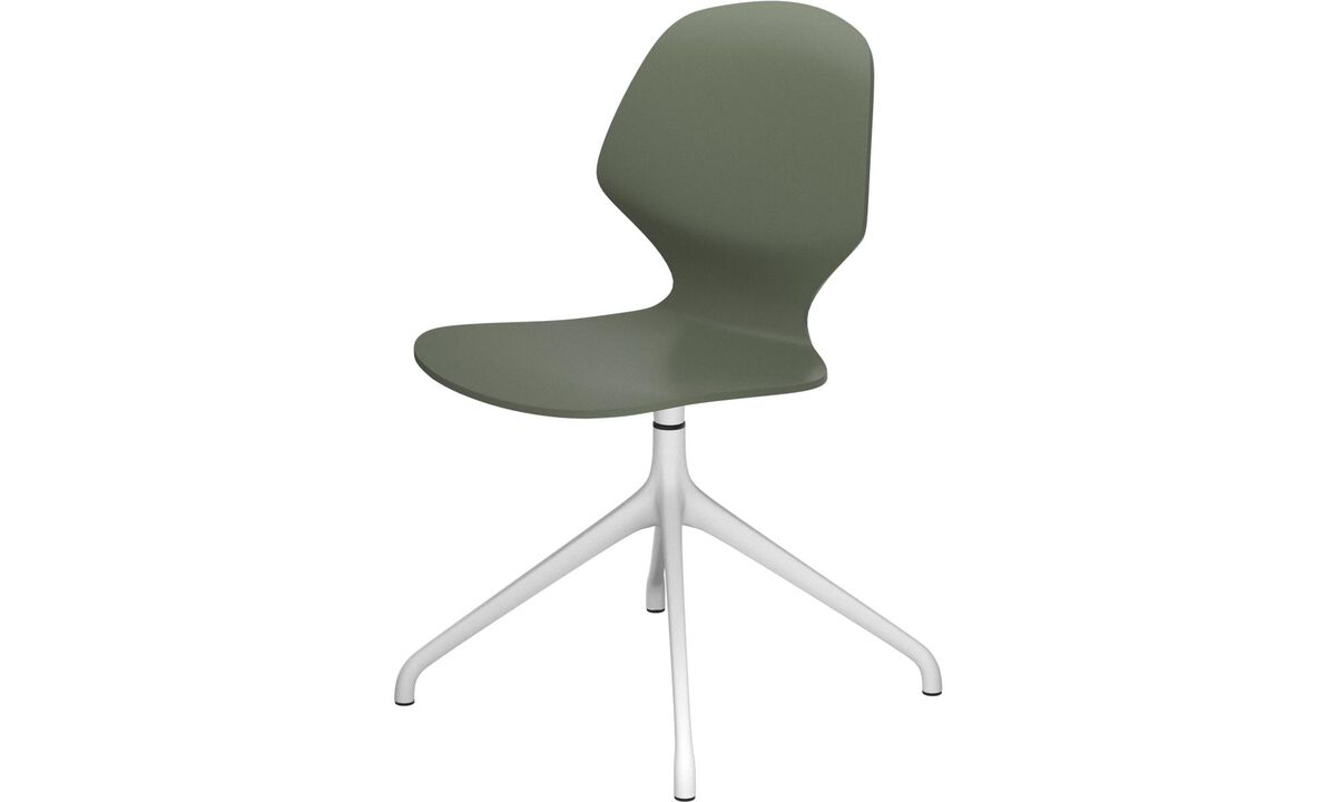 Dining chairs - Florence chair with swivel function - Green - Lacquered