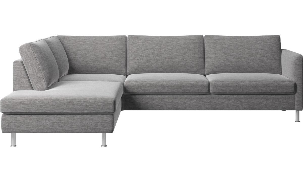 Corner sofas - Indivi divano ad angolo con modulo relax - Grigio - Tessuto