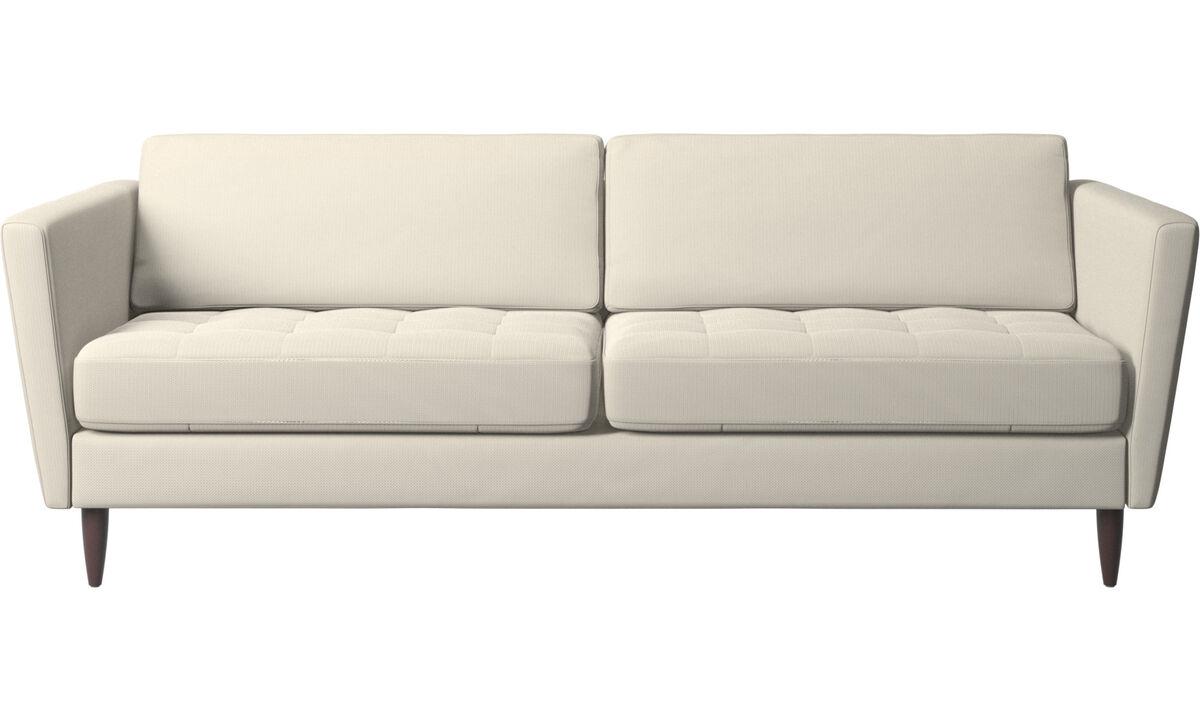 2.5 seater sofas - Osaka sofa, tufted seat - White - Fabric
