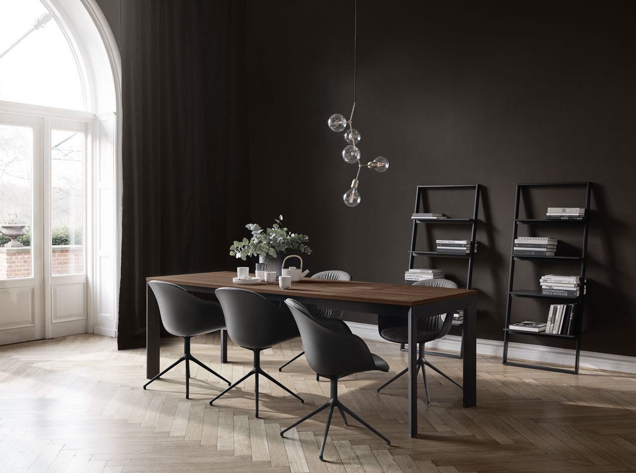 Black dining chairs - Adelaide chair with swivel function and wheels