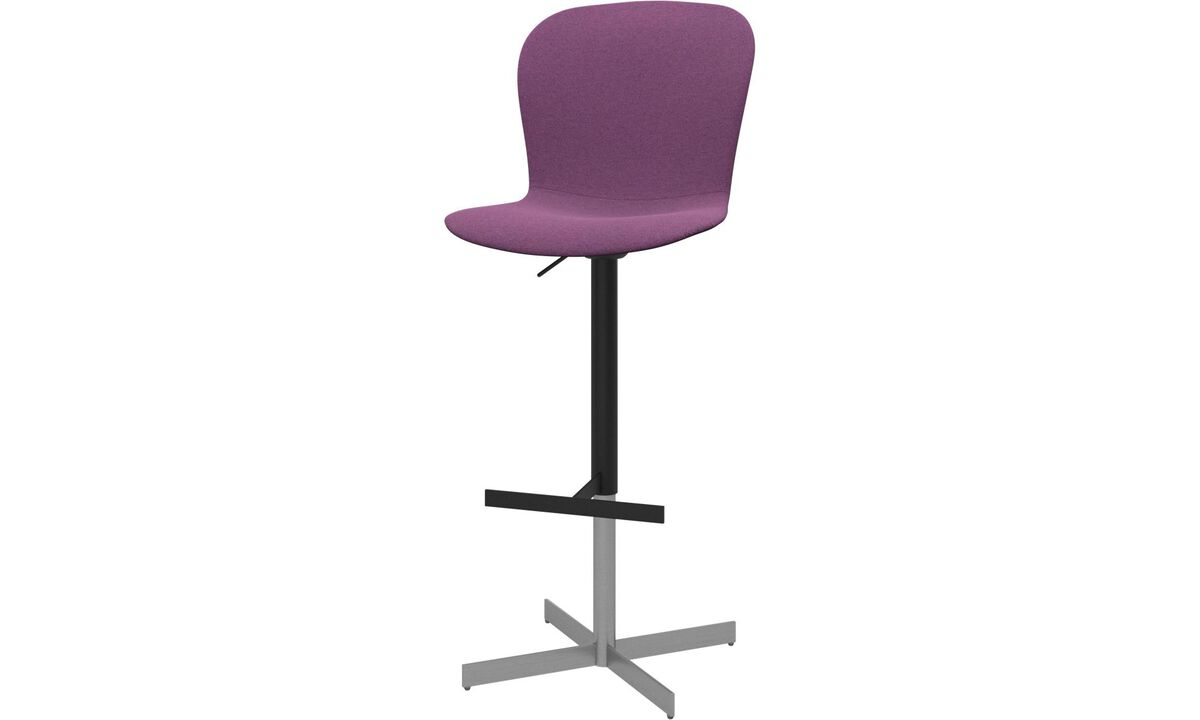 Bar stools - Adelaide barstool with gas cartridge - Purple - Fabric