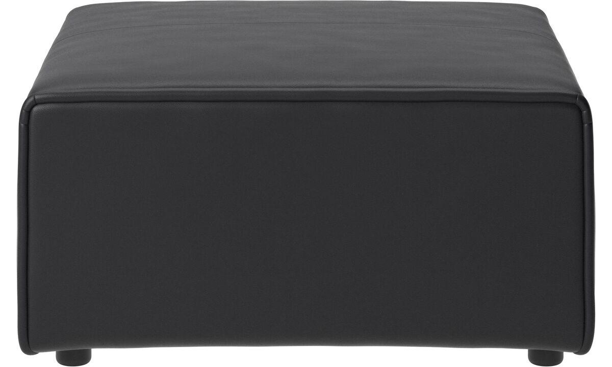 Modular sofas - Carmo ottoman - Black - Leather