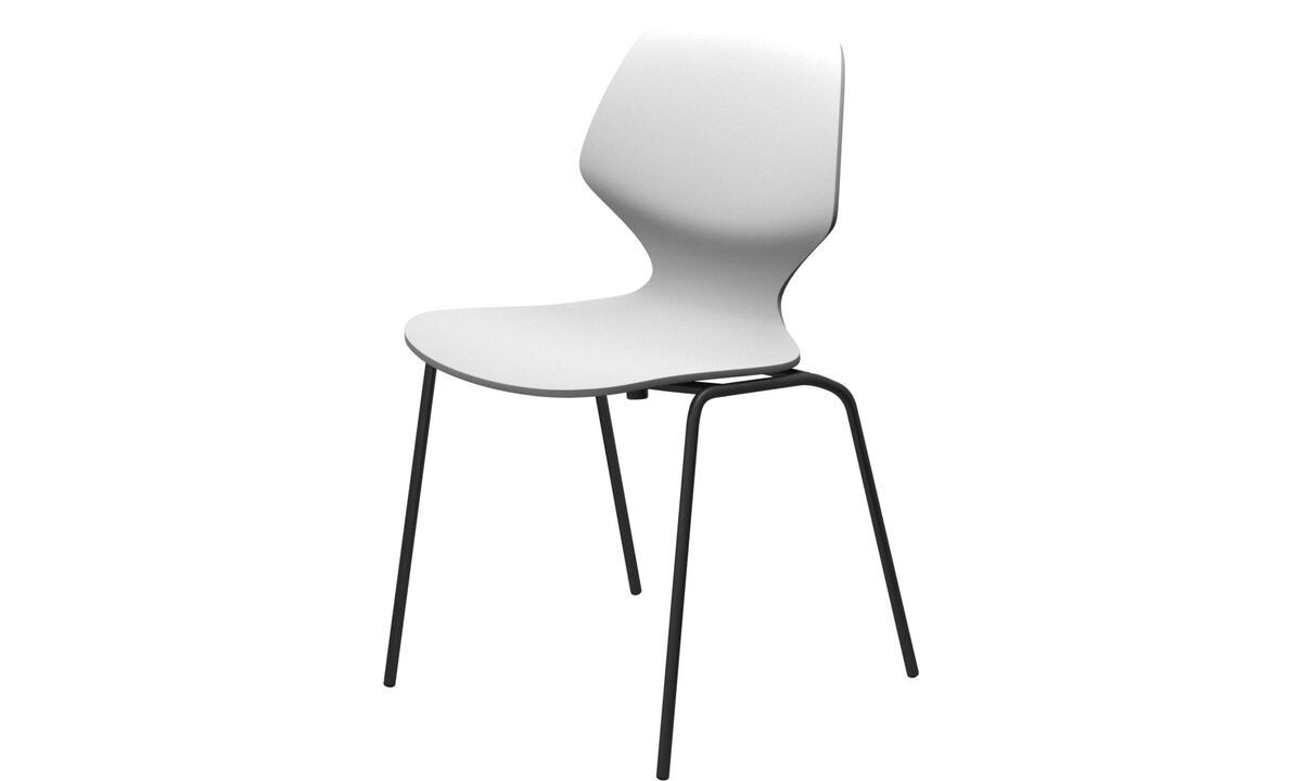 Dining chairs - Florence chair - White - Lacquered