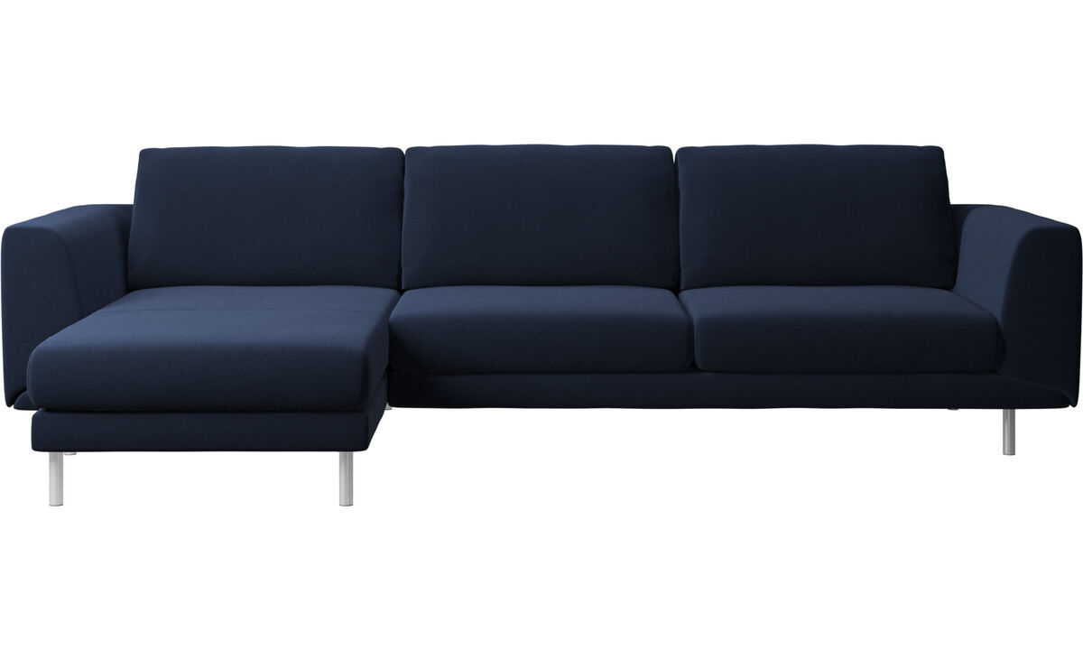 Chaise lounge sofas - Fargo sofa with resting unit - Blue - Fabric