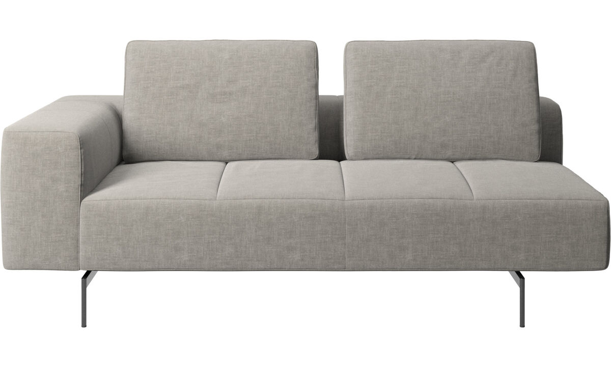 2.5 seater sofas - Amsterdam 2.5 seating module, armrest left - Grey - Fabric