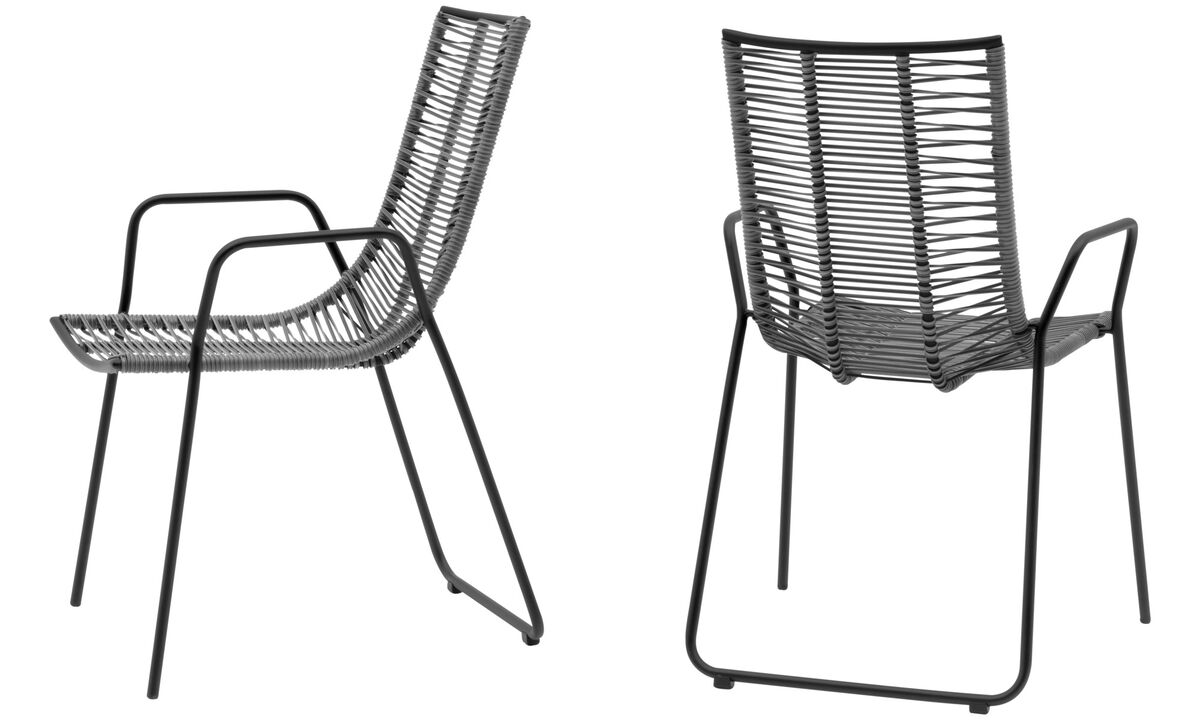 Dining chairs - Elba chair (for in- and outdoor use) - Gray