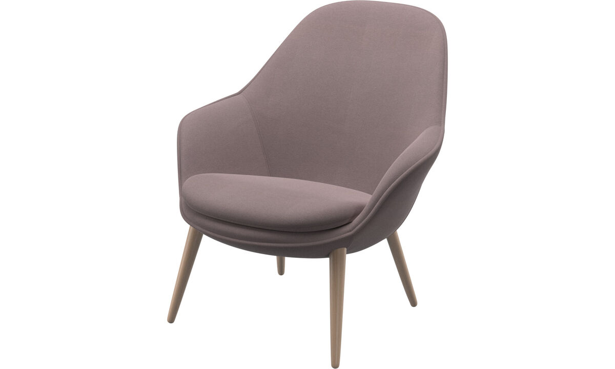 Armchairs - Adelaide living chair - Purple - Fabric