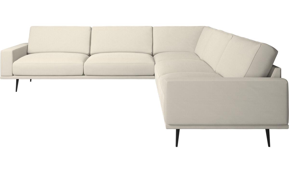 New designs - Carlton corner sofa - White - Fabric
