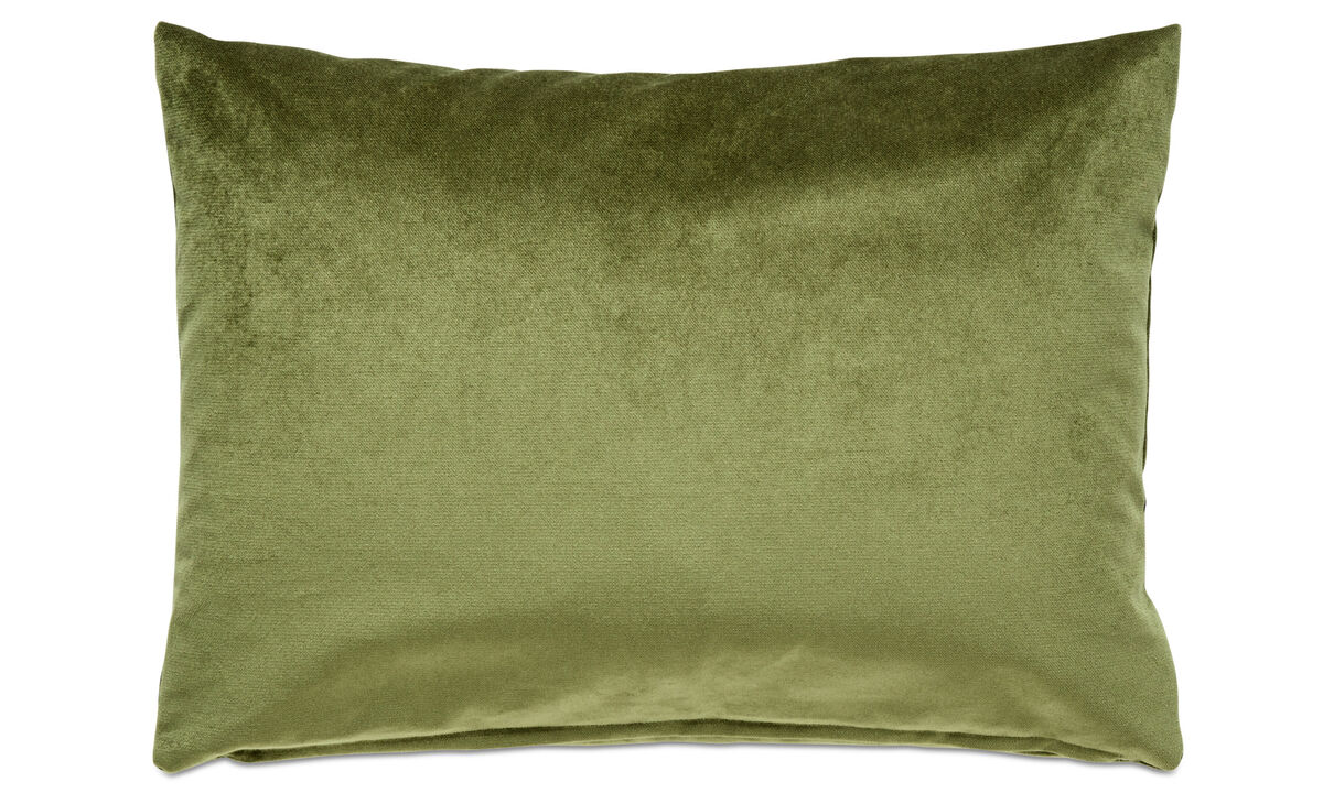 Velvet cushions - Velvet plain cushion - Green - Fabric