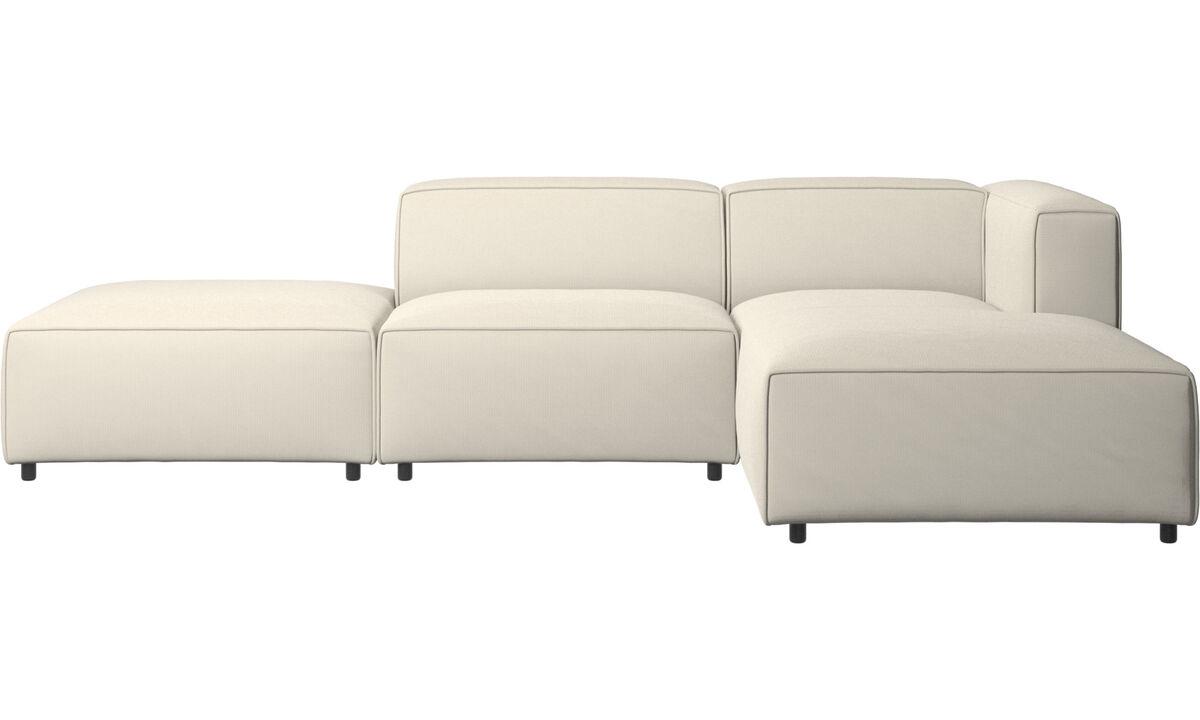 Modular sofas - Carmo sofa with resting unit - White - Fabric