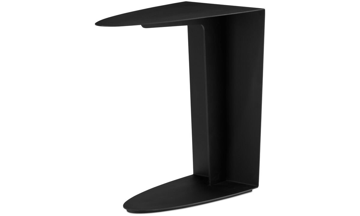Coffee tables - Ottawa side table - oval - Black - Lacquered