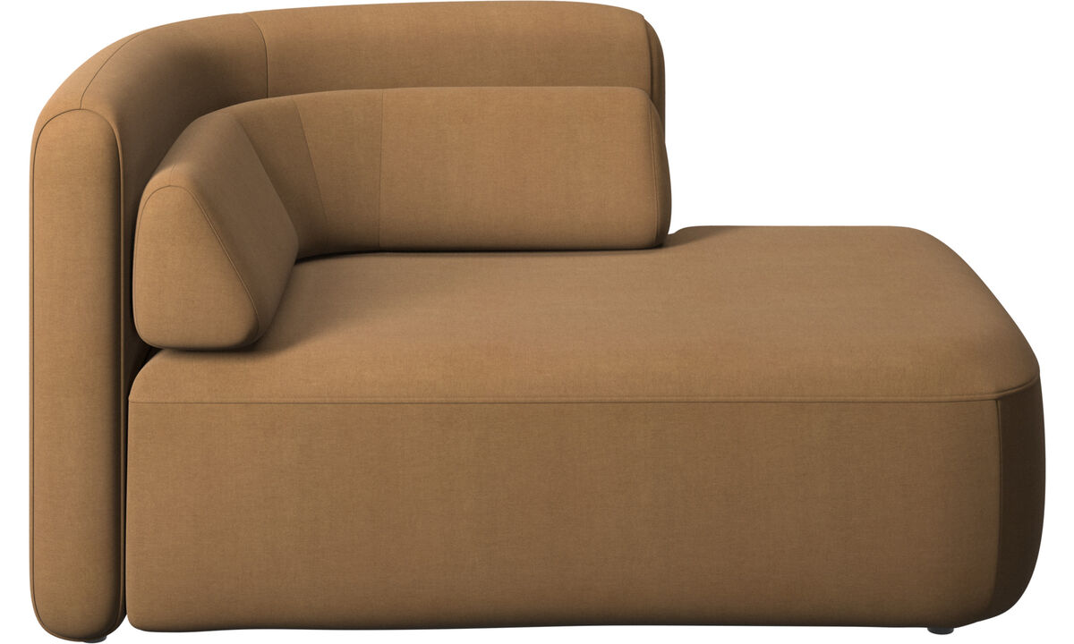 Modular sofas - Ottawa 1,5 seater open end right side - Brown - Fabric