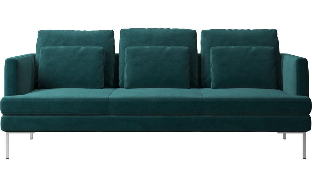 3 seater sofas - Istra 2 sofa - Blue - Fabric