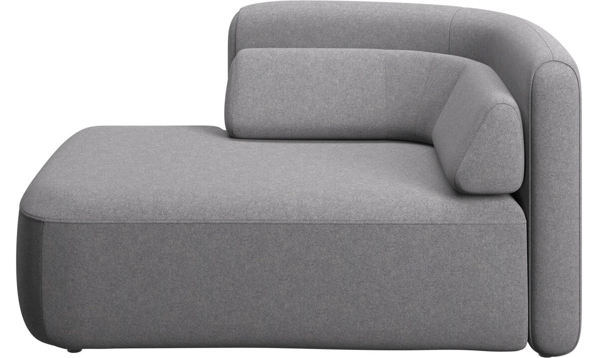 Modular sofas - Ottawa 1,5 seater open end left side - Grey - Fabric