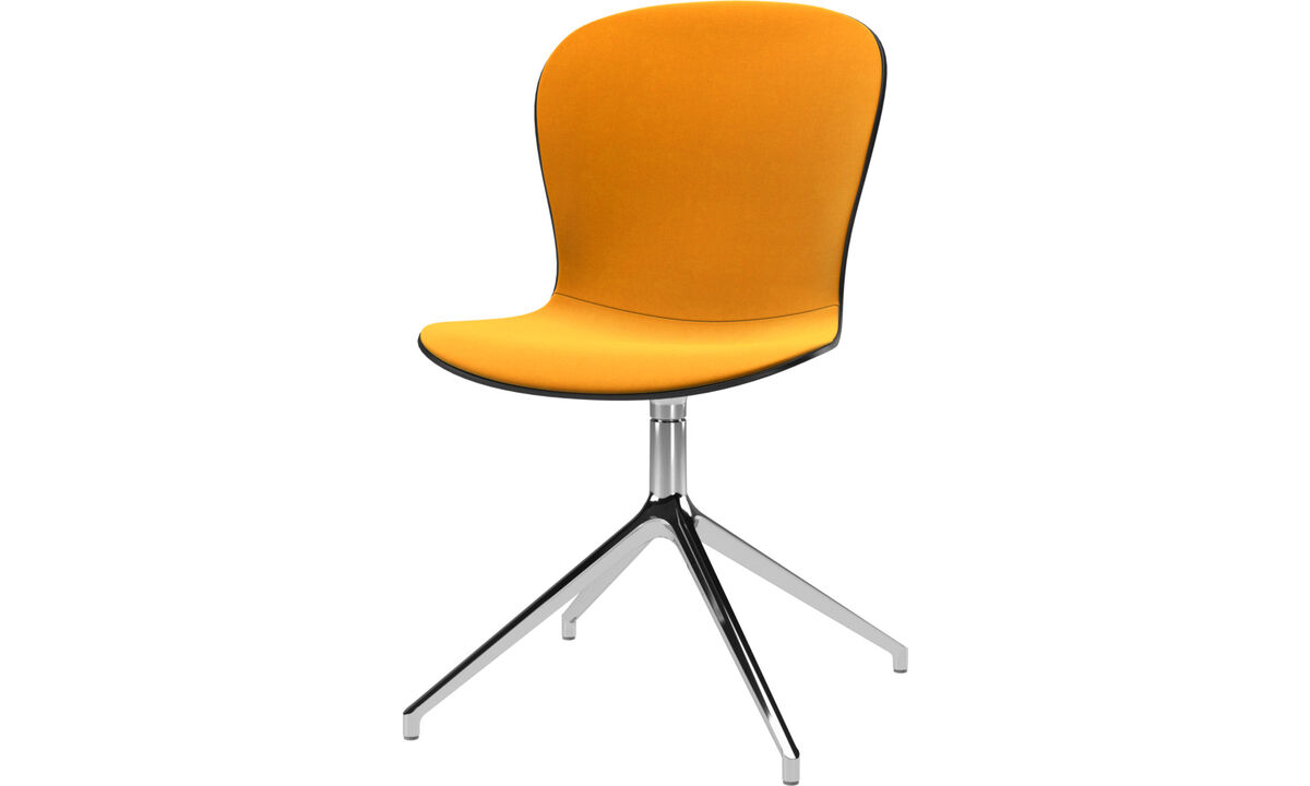 Dining chairs - Adelaide chair with swivel function - Orange - Fabric
