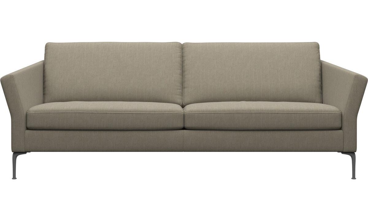 3 seater sofas - Divano Marseille - Marrone - Tessuto