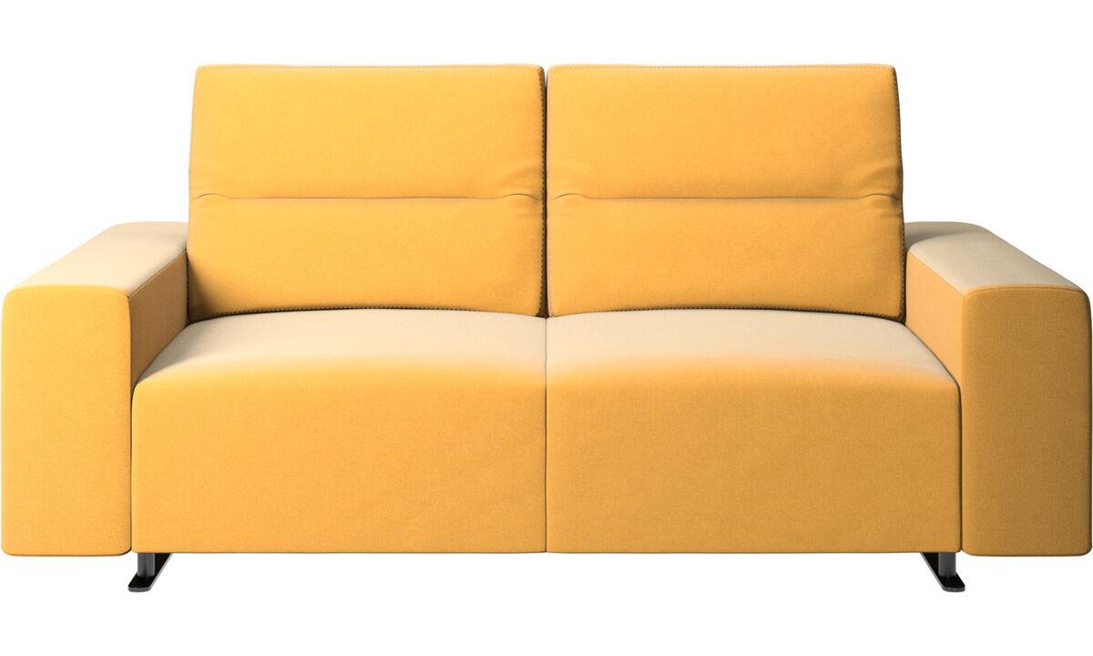 2-sitzer Sofas - Hampton Sofa mit verstellbarer Rückenlehne - Gelb - Stoff