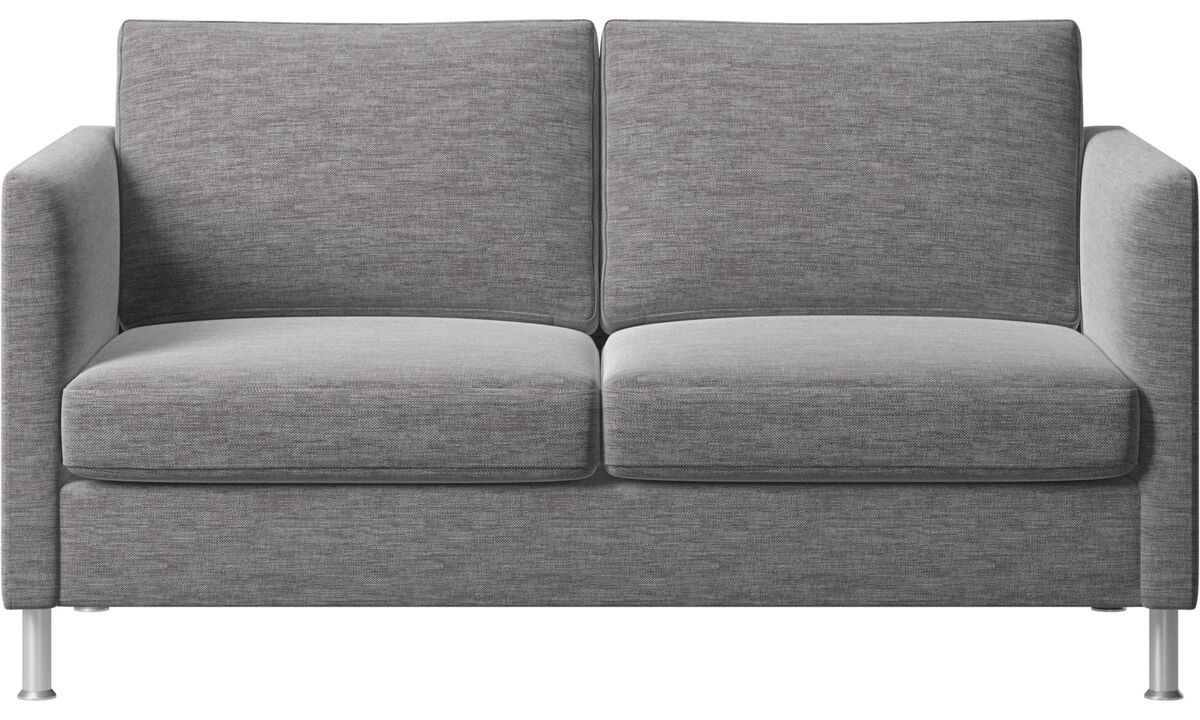 Sofás de 2 plazas - sofá Indivi - En gris - Tela