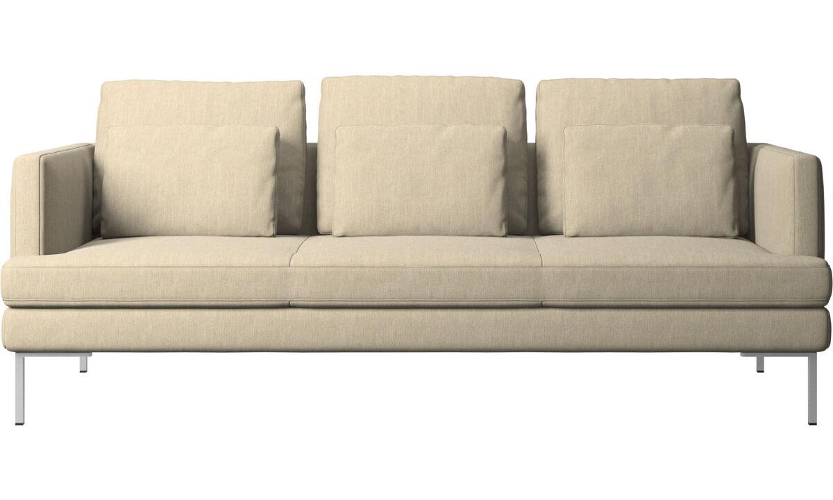 Sofás de 3 plazas - sofá Istra 2 - En marrón - Tela
