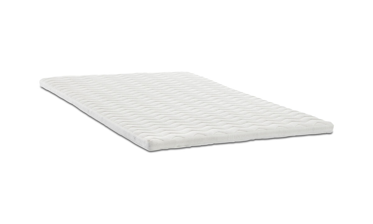 床垫 - Comfort 上垫子 - 白色 - 布艺