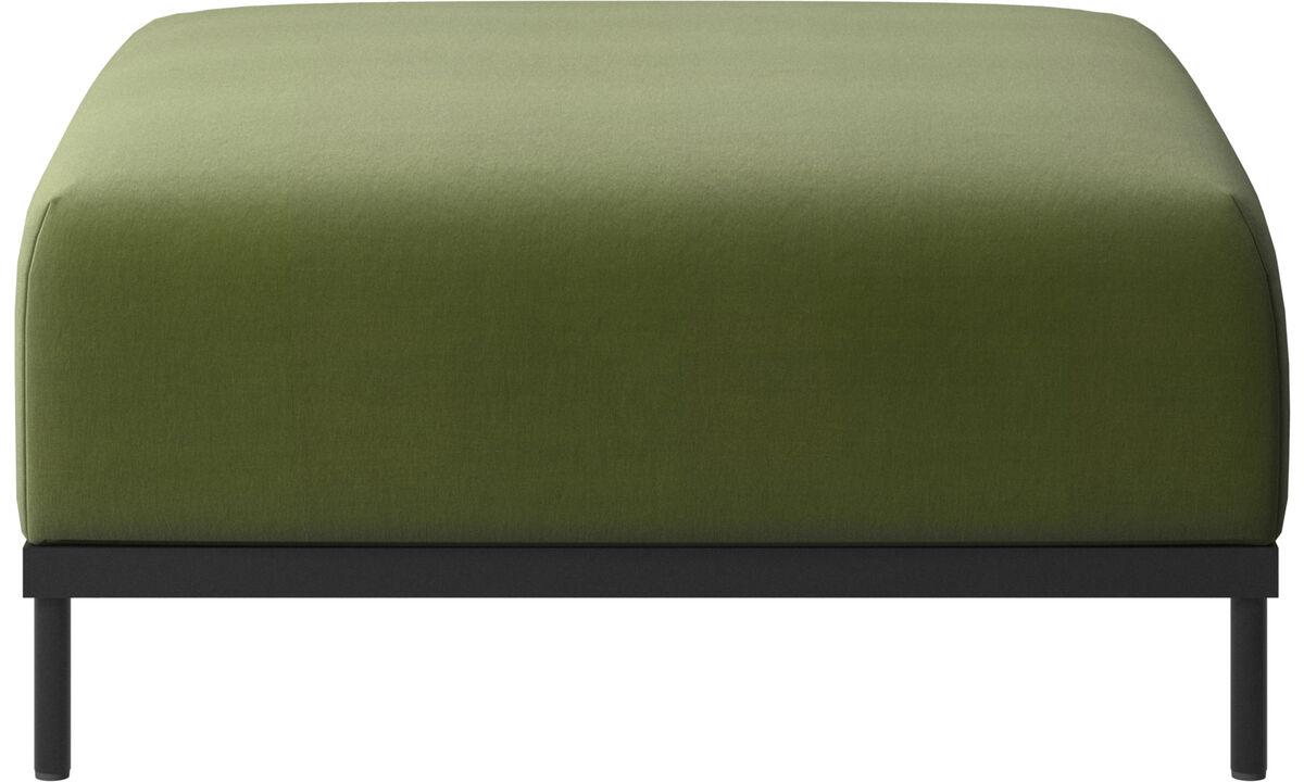 Footstools - Green - Fabric