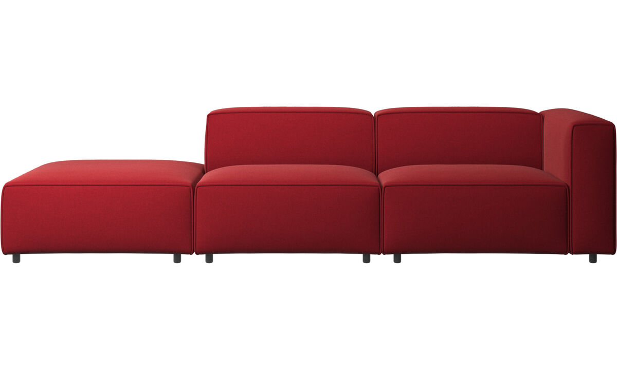 Modulære sofaer - Carmo sofa med loungemodul - Rød - Stof