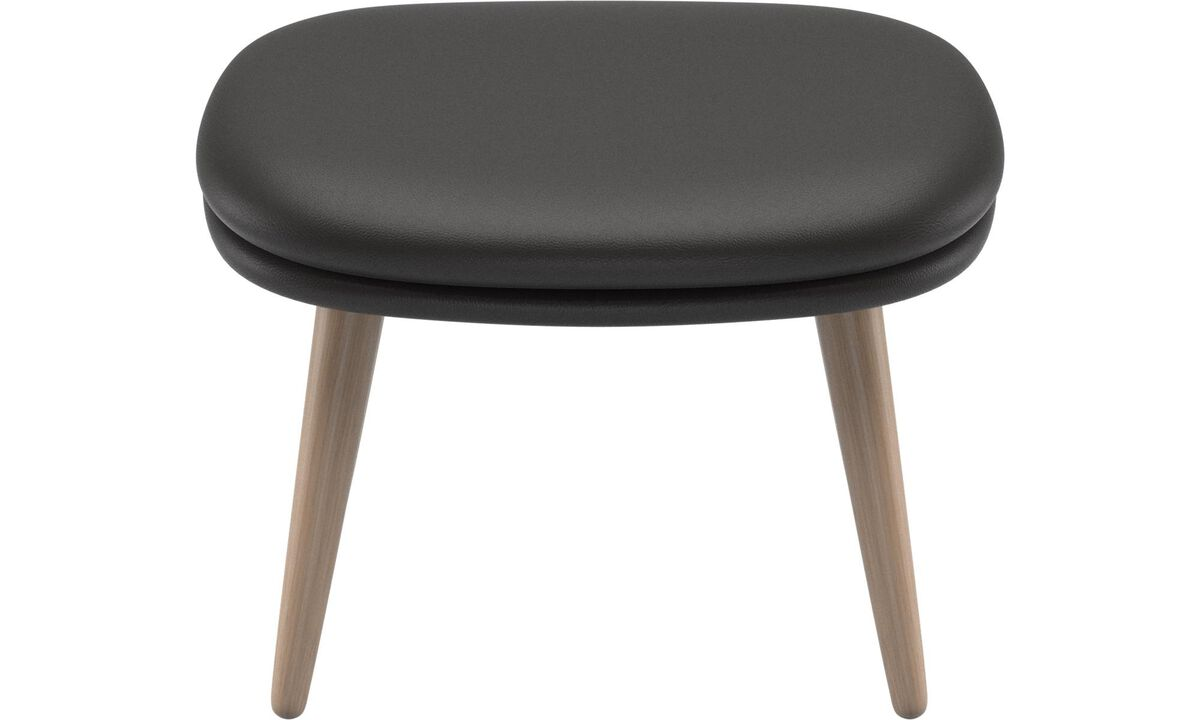 New designs - Adelaide footstool - Black - Leather