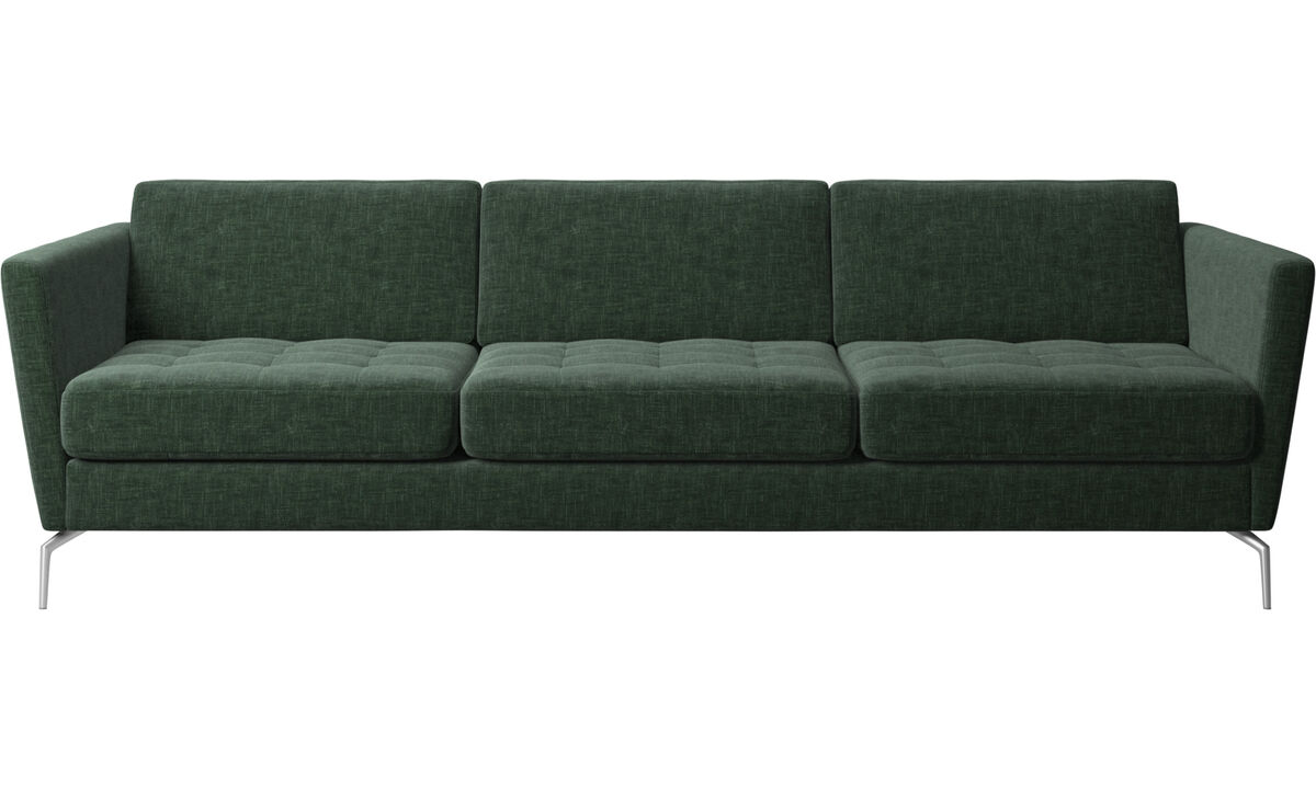 3 seater sofas - Osaka sofa, tufted seat - Green - Fabric