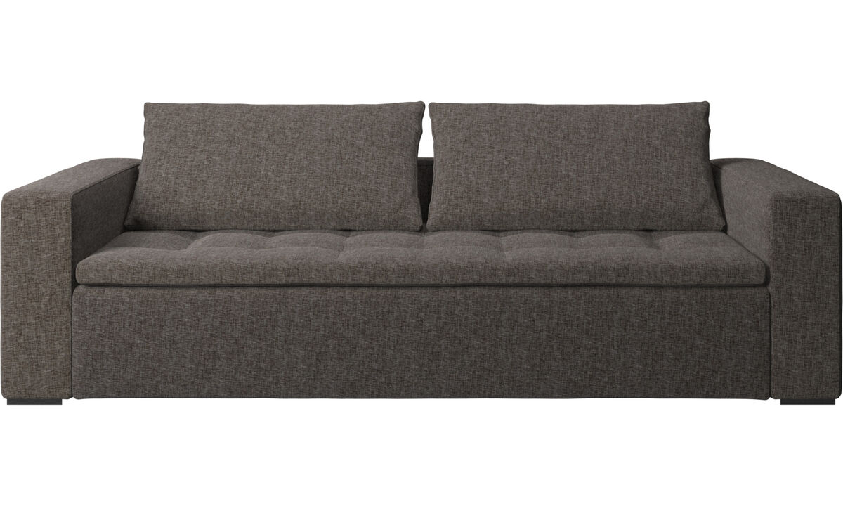 3 seater sofas - Mezzo sofa - Brown - Fabric