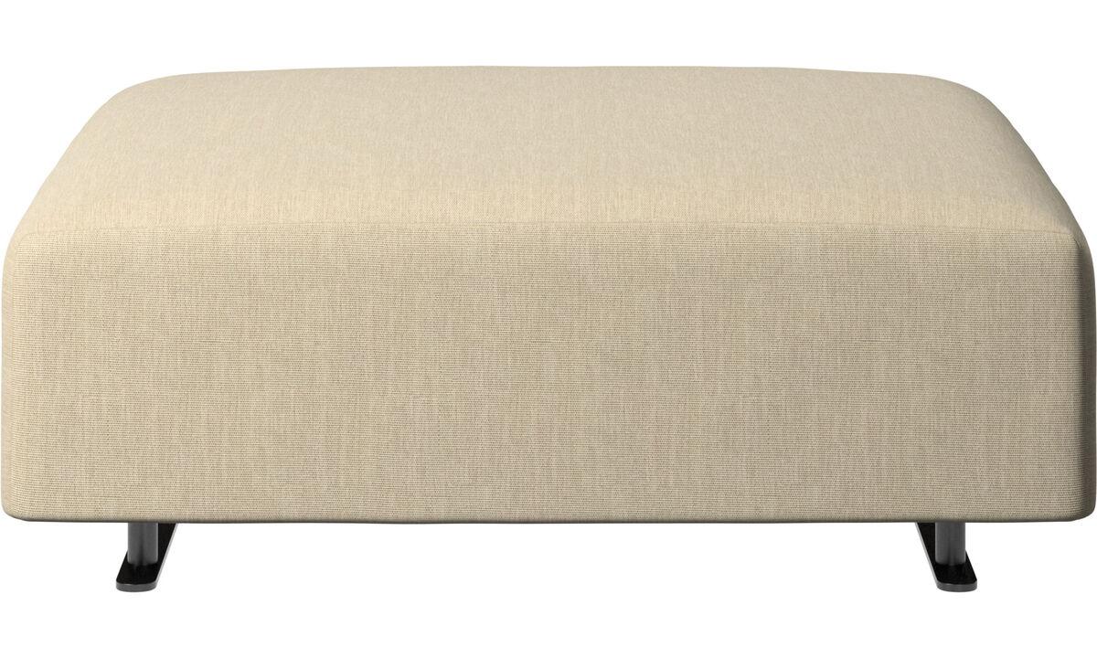 Ottomans - Hampton pouf - Brown - Fabric