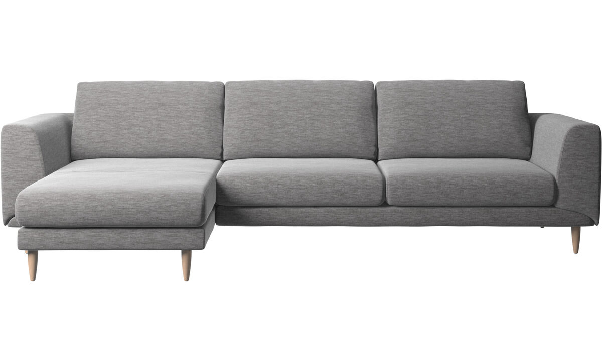 Chaise longue sofas - Fargo sofa with resting unit - Grey - Fabric