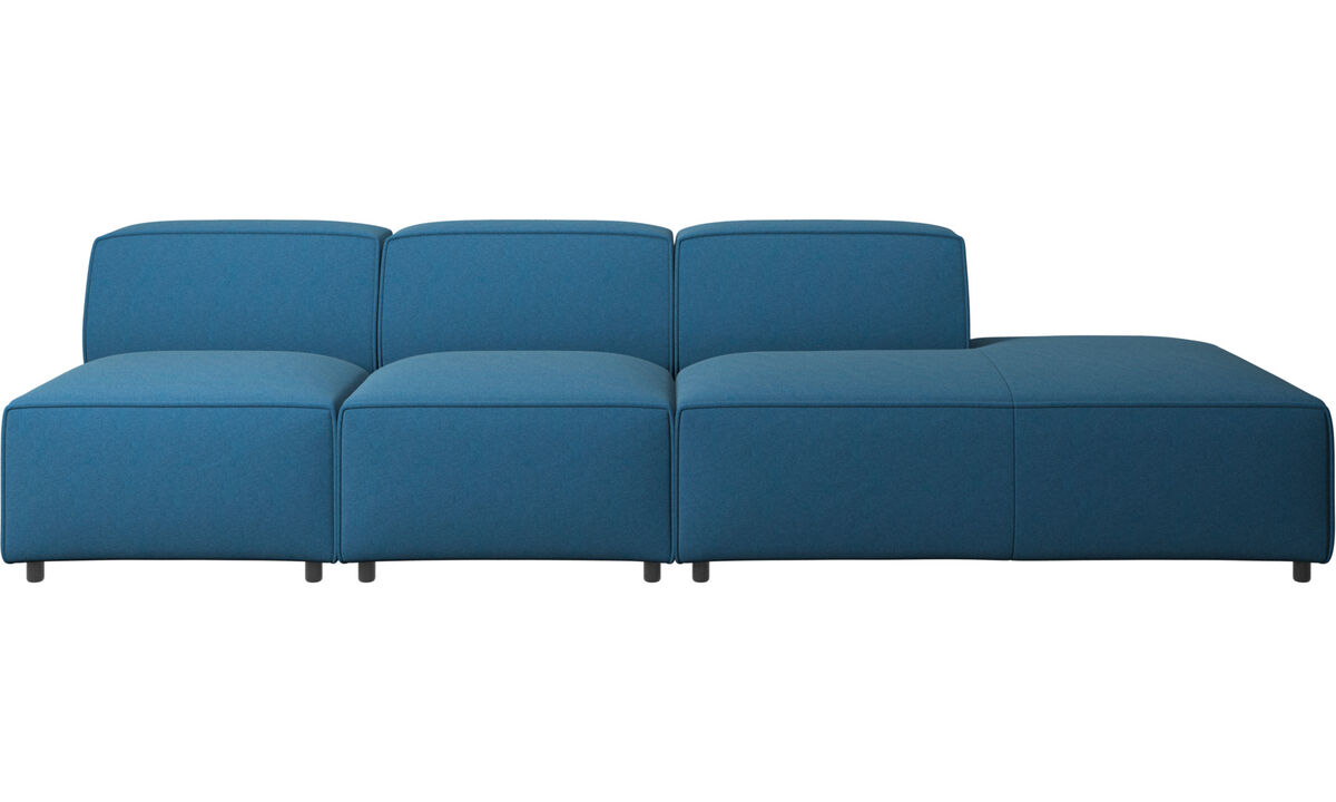 Sofas with open end - Carmo sofa with lounging unit - Blue - Fabric