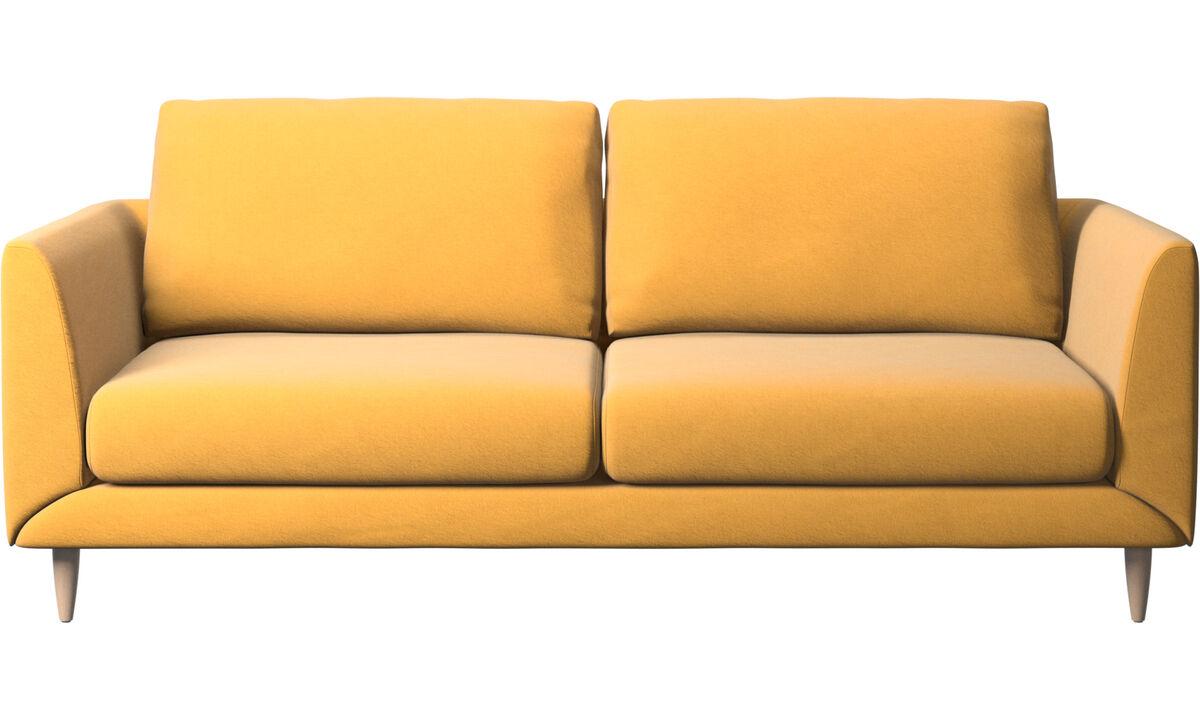 Sofás de 2 plazas y media - Sofá Fargo - En amarillo - Tela