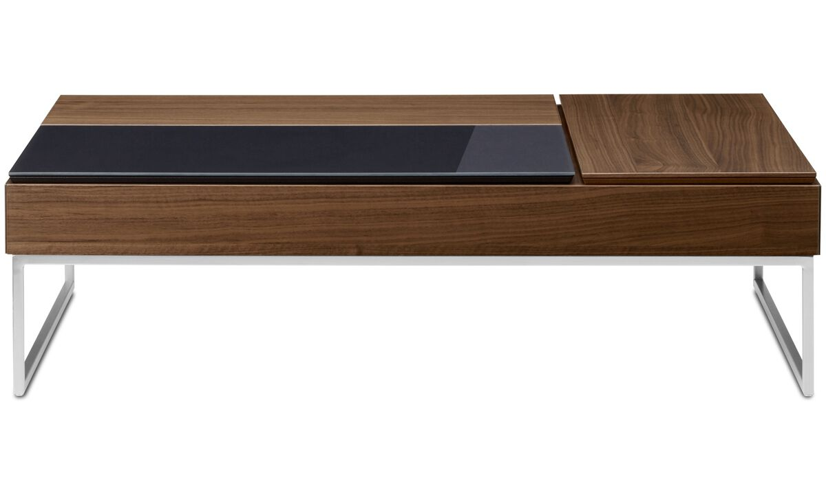 New designs - Chiva functional coffee table with storage - square - Brown - Walnut