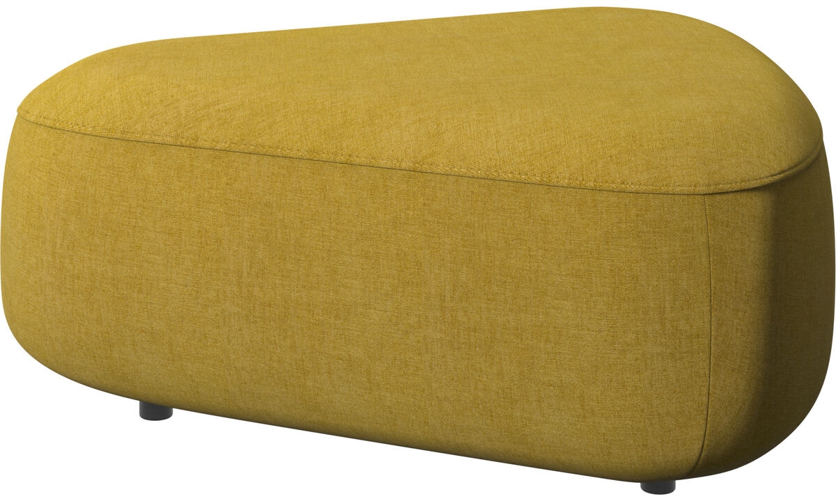 Modular sofas - Ottawa triangular pouf - Yellow - Fabric